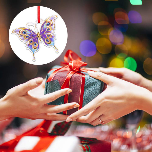 WaaHome Butterfly Christmas Ornaments 2019 Keepsake Christmas Tree Ornaments Christmas Tree Decorations