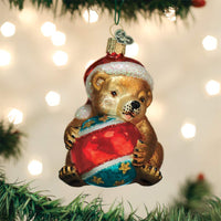 Old World Christmas Hanging Tree Ornament, Playful Cub