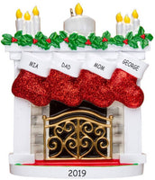 DIBSIES Personalization Station Personalized Christmas Mantle Family Ornament (Family of 4)
