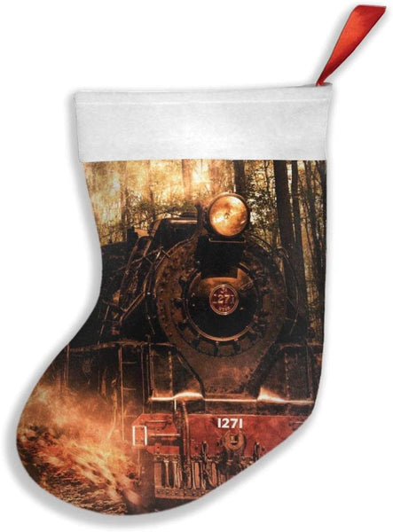 YISHOW Cool Steam Train Christmas Stockings Party Accessories Christmas Decorations