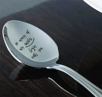 So Many Of My Smiles Begin With You- Baby Quotes Engraved Spoon-Gift For Her- Romantic Quote-Christmas Gift Idea