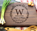 Personalized Cutting Boards, Wooden Custom Engraved Chopping Board for Wedding Gift, Bridal Shower, Engagement Gifts, Anniversary Gift, Housewarming Gift, Gift for Parents