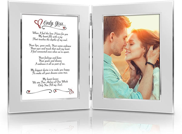 BEST Romantic Valentine Anniversary Birthday Wedding Gift for Her, Him, Wife, Husband, Girlfriend, Boyfriend, Soulmate, Lover. Date Night Gift. Romantic Poem + Your Favorite Photo = Custom Poetry Gift