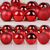 "GameXcel Christmas Balls Ornaments for Xmas Tree - Shatterproof Christmas Tree Decorations Large Hanging Ball Red 2.5"" x 24 Pack"