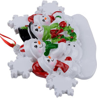 WorldWide Snowman Family of 4 Personalized Ornament