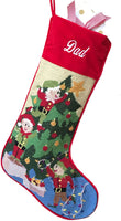 Needlepoint Christmas Stocking: Decorating The Tree
