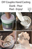 Luna Bean LARGE Keepsake Hands Casting Kit | DIY Plaster Statue Molding Hand Holding Craft Kit for COUPLES, Adult & Child, Wedding, Friends, Anniversary Gift