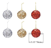 "Christmas Balls Ornaments Decoration for 2020 Santa's Factory New Design Dazzling Hanging Xmas Balls Pendants Baubles Set for Christmas Tree Decorations Collections (6ct 3.15""/80mm)"