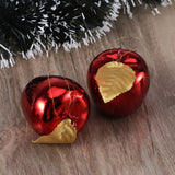 TINKSKY Christmas Tree Pendant 4cm Glitter Apple Decoration Ornaments Festival Hanging Xmas Tree Decor Holiday Wedding Party Decor Christmas Birthday Gift friends 12pcs (Red)