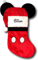 Kurt Adler Personalized Disney Mickey Mouse Christmas Stocking with Ears - 19 Inches