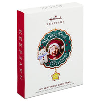 Hallmark Keepsake Ornament 2019 Year Dated My Very First Christmas Baby Photo Frame