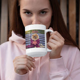 Custom Photo Coffee Mugs, 15 oz. w/Picture, Text, Name on Coffee Mugs, Personalized Gifts, Ceramic Custom Mug, Great Photo Gifts for Mom, Dad and Office, Christmas, Taza Personalizadas