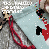 Personalized Christmas Stocking Gifts w/Custom Name | 16 in - 12 Design - Santa, Snowman, Reindeer Xmas Holiday Stocking Decorations for Family, Girls, Boys