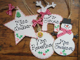 Personalised Teacher Christmas Tree Decoration Handmade Plaque Gift Xmas