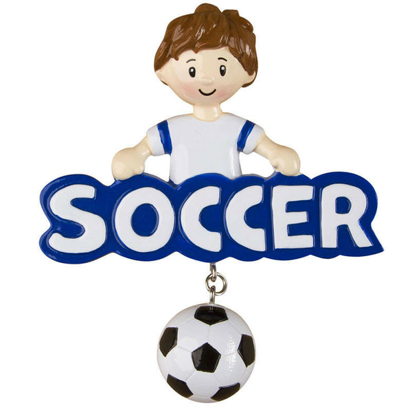 Soccer Boy Personalized Christmas Tree Ornament