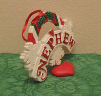 """Nephew"" Personalized Christmas Tree Ornament Holiday Gift"