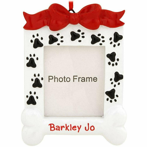 Dog Bone Frame Personalized Christmas Tree Ornament