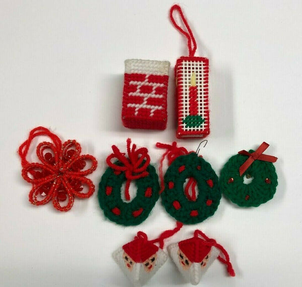 (8) Assorted Christmas Tree Ornaments Decorations