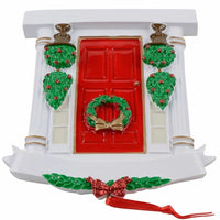 MAXORA Red Door Personalized Christmas Tree Ornament DO-IT-YOURSELF