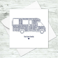 Personalised Motorhome Card Birthday Fathers Day Gifts For Him Her Couples