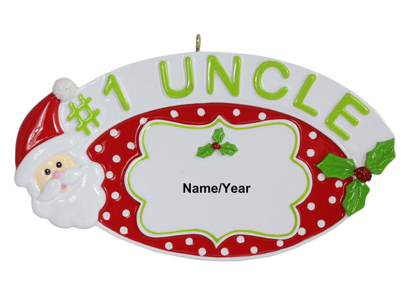 #1 Uncle Personalized Ornaments Christmas Holiday gift--Free Personalization