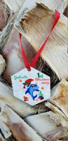 Personalized Shark Baby Christmas Ornaments, Customized First Christmas ornament