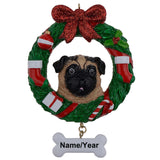Maxora Yellow Pug Dog Resin Crafts Personalized Christmas Ornament Hand Painted