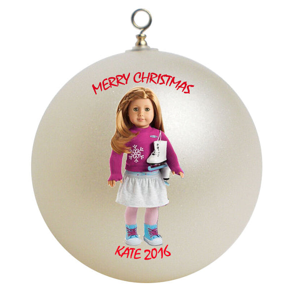 Personalized American Girl Mia Christmas Ornament
