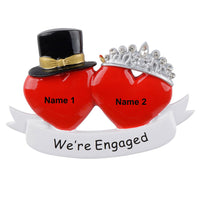Personalized Engaged Couple Christmas Holiday Gift Expertly Handwritten Ornament