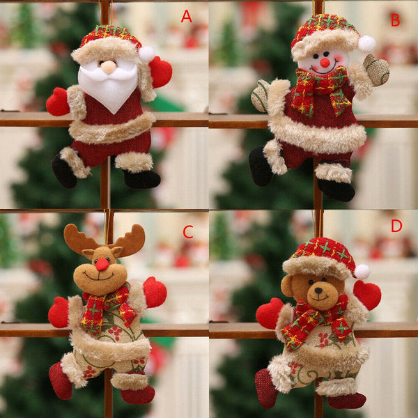 1*Personalized Christmas Doll Santa Claus Snowman Family Holiday Party Ornaments
