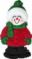 Female Name Snowgirl Kayla Personalized Christmas Tree Ornament