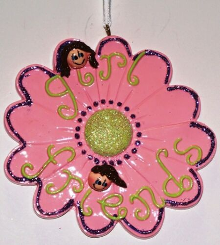 Girlfriends Flower Personalized Christmas Tree Ornament