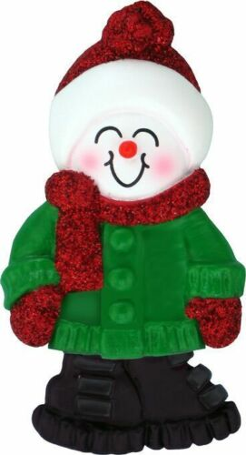 Male Name Snowboy Bryan Personalized Christmas Tree Ornament