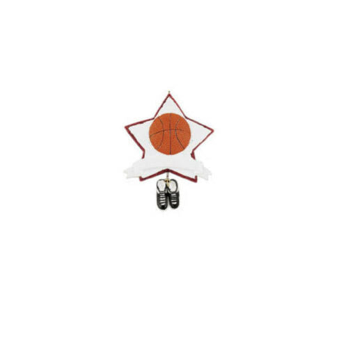 NBA Basketball Star Glitter Personalized Christmas Tree Ornament
