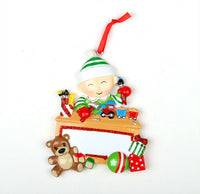 PERSONALIZED POLARX CHRISTMAS ORNAMENTS - Baby with toys