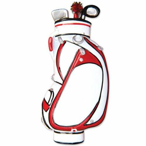 Sport Golf Bag Personalized Christmas Tree Ornament