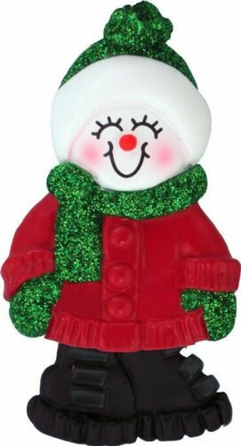 Female Name Snowgirl Alexandra Personalized Christmas Tree Ornament