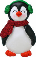 Penguin with Male Name Carter Personalized Christmas Tree Ornament
