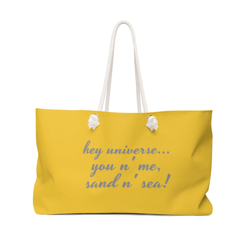 You n' Me, Sand n' Sea! Gold Tote