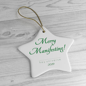 Merry Manifesting! Star & Circle Ornaments
