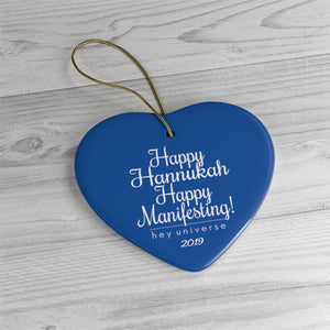 Happy Hannukah Happy Manifesting! Holiday Ornaments
