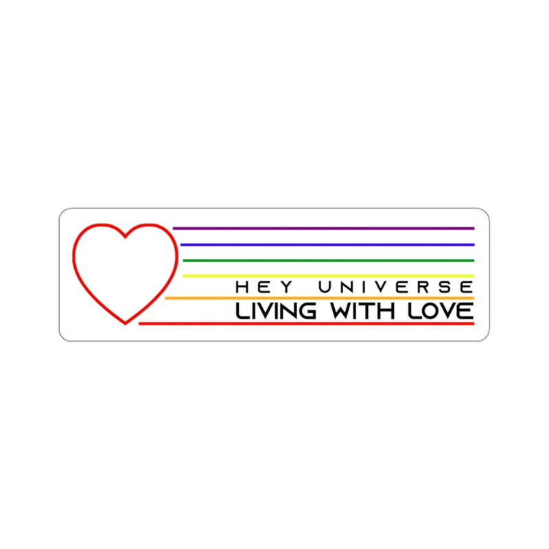 Living with Love Sticker