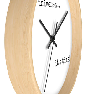 It's Time! Natural Frame Wall Clock