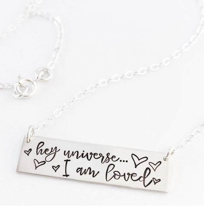 "Personalized ""I Am"" Necklace"