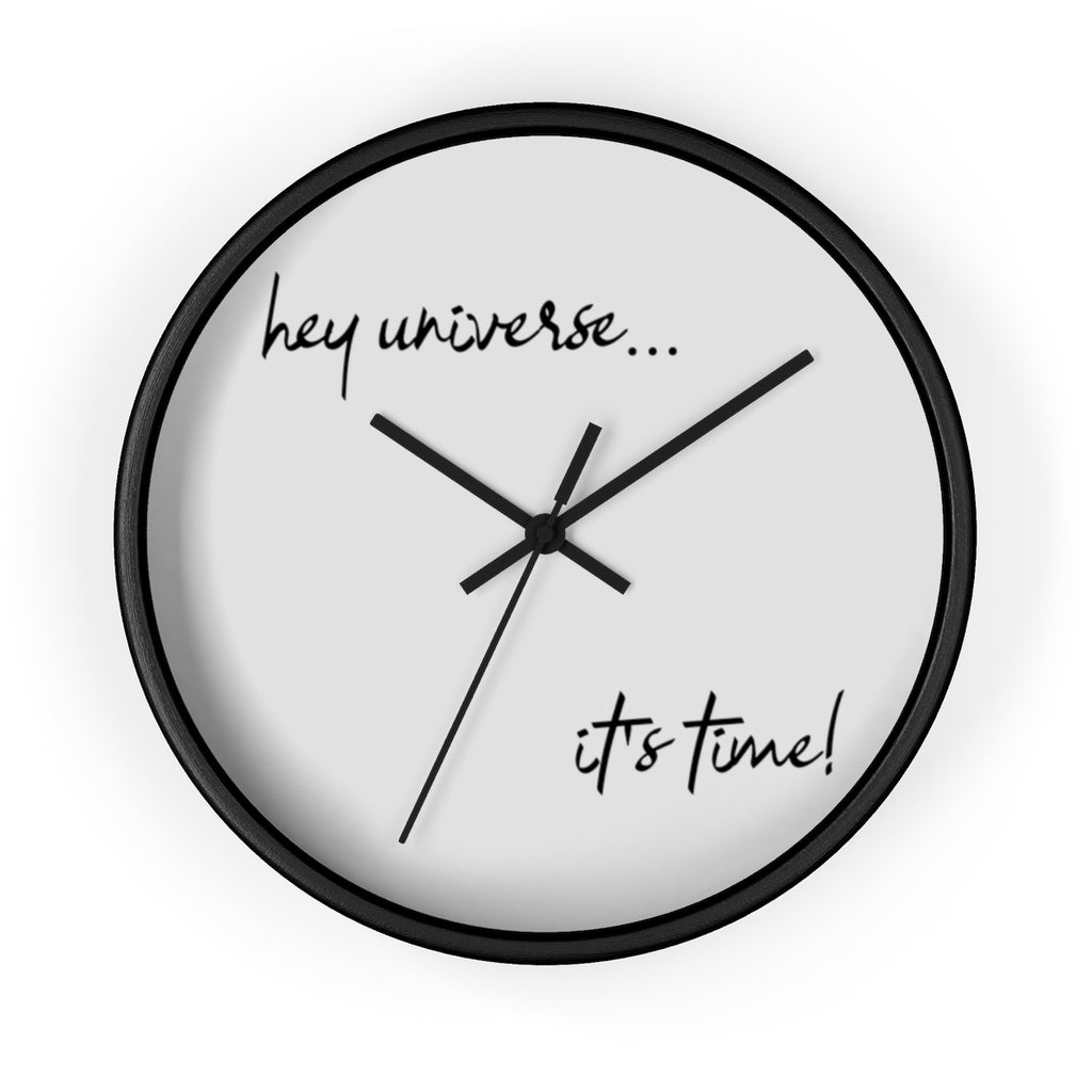It's Time! Black Frame Wall Clock