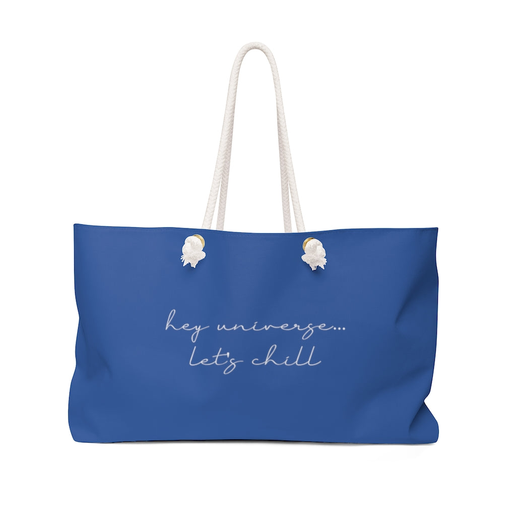 Let's Chill Blue Tote