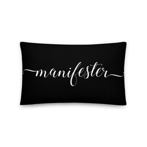Manifester Black & White Pillow