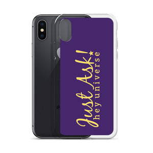Just Ask Purple iPhone Case