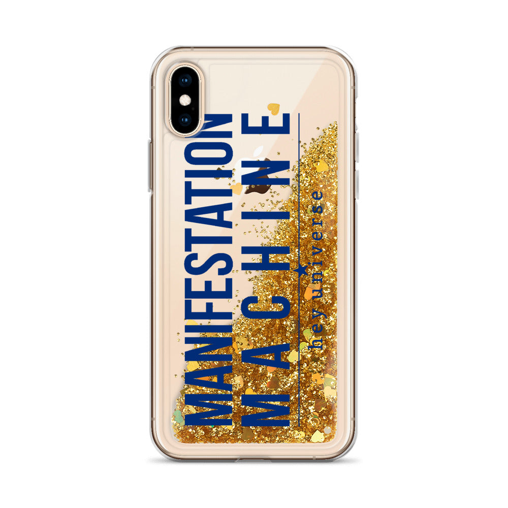 Manifestation Machine Liquid Glitter iPhone Case