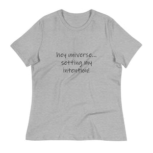 Women's Setting My Intention! Declaration Tee